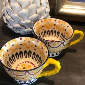 2 Anthropologie With a Twist teacup mug